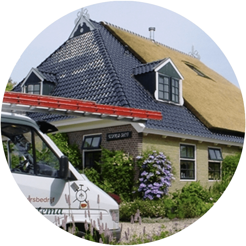 reparatie rieten dak friesland