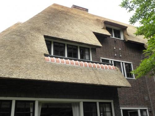 rietgedekte woning, villa, huis